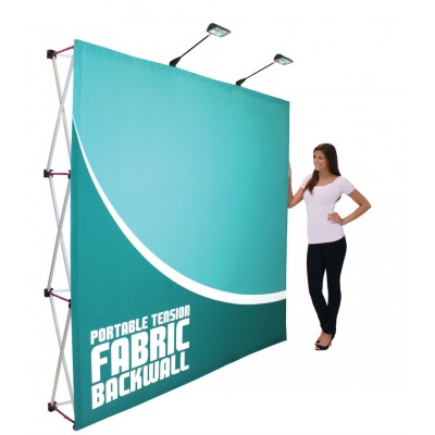 Fabric Exhibition Stand Up : Media fabric pop up display stand