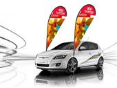 Outdoor car flying banners