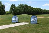 Golf pop up banner