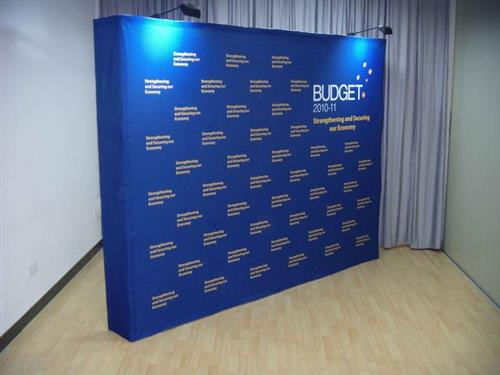 Fabric Pop Up Exhibition Stands : Fabric banner wall pop ups up stand