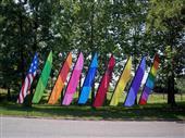 Custom swooper flags