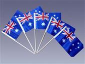 Australia hand stick flag