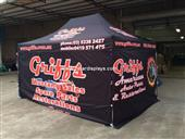 Racing folding tents